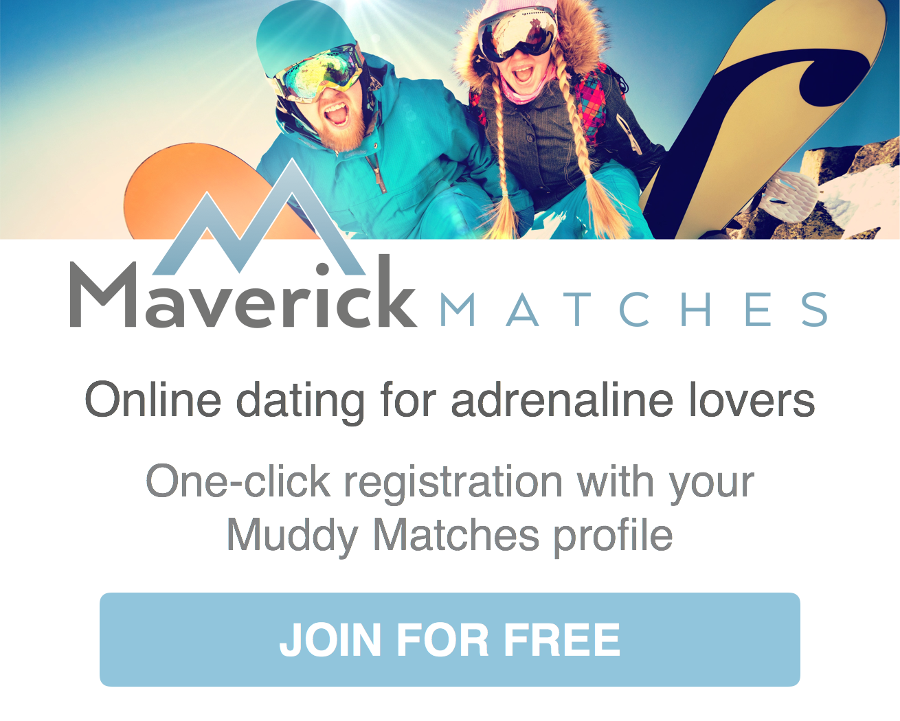 Register on Maverick Matches